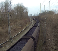 Bild: Kohle auf dem Weg vom HKW zum Marienplatz