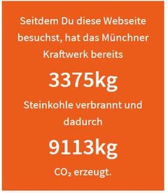 Automatischer Zähler für den Steinkohleblock in München