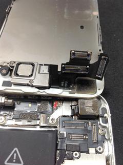 iPhone5 水没反応シール