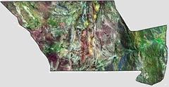 Imagen satelital del Dpto.