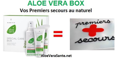 Box aloe vera premier secours au naturel  SPRAY DE PREMIER SECOURS -  EMERGENCY SPRAY ALOE VERA