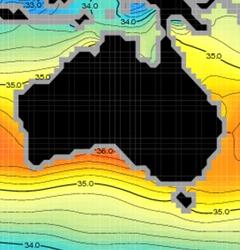 Salinity of Australia's Ocean regions.