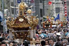 2015年, 鐵砲洲稲荷神社例大祭, 各町神輿連合渡御