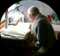 ミシン室が親父の勉強スペース
