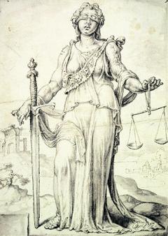 Zeichnung von Justizia