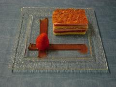 Recette de croustillant de fraises de l'Auberge du Trieux