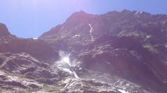 Wasserfall Wenns Braunschweiger Hütte Alpen Österreich E5