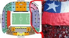 Marea Roja en el estadio