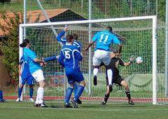 """Fabio da Rocha köpft zum 1:0 für die"""" Blauen"""""""