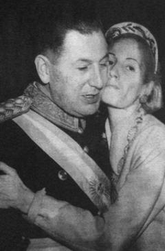 Figure 2 - Juan et Eva Perón à Buenos Aires, en juin 1952, après l'intervention de lobotomie frontale.