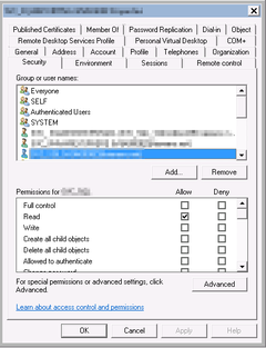 Active Directory: Security vom SQL Server Service Account