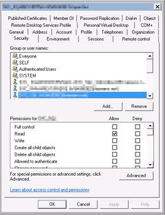 Active Directory: Security vom SQL Server Service Account