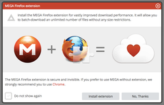 Mega extensión para Firefox