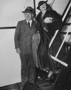 1935 - Irene and Frank somewhere on a ship between Hollywood and New York