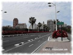 El Puente de las Flores atraviesa el Jardín del Turia en la ciudad de Valencia.