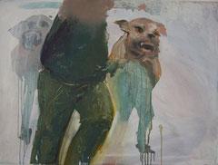 """Ferngesteuert"" 2010, Öl auf Leinwand, 70x60"