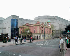 The Crown on Broad Street, Symphony Hall and the ICC behind.