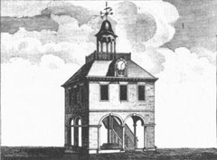 The Old Cross. Image from William Hutton's 1783 History of Birmingham - now in the public domain.