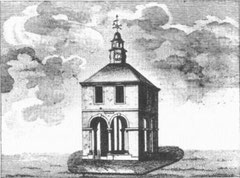 The Welch Cross. Image from William Hutton's 1783 History of Birmingham - now in the public domain.