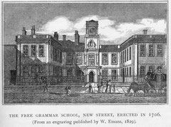 The Free Grammar School was altered c1734.