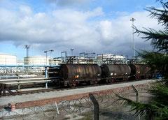 Oil depot near The Fort shopping centre