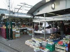The Bull Ring market viewed from Upper Dean Street