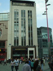 The Times Furnishing building at the junction of High Street and New Street. This was the site of William Hutton's house and bookshop.