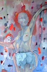 Pimpinella und die Leichtigkeit des Seins _ 2010_120x80 cm