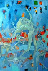 Pimpinella auf der Bühne _ 2010_130x90 cm