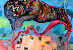 Pimpinella is a tiger  now_ 2010_100 x140 cm