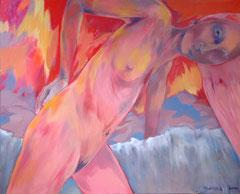 Pimpinella und das Abendrot _2010_ 100x80 cm