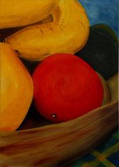 Panier_de_légumes-2    /  huile sur toile  /    85 x 60,5