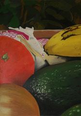 Panier_de_légumes    /  huile sur toile  /    121 x 84,5