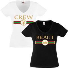 Braut Crew Stripes