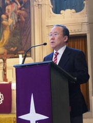 Botschafter Takeshi Nakane bei seiner Ansprache