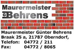 Maurermeister Behrens
