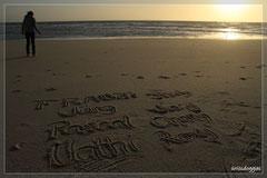 Nathi hat uns im Sand verewigt... bis zur nächsten Flut :-)