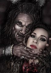 """Kill your darlings"" Beast Edwin Jonker & Victoria Boo, make-up & photo edit by Victoria Boo"