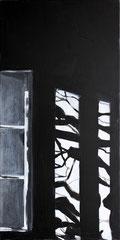 Lichteinfall 1, Acryl auf Leinwand, 80x40