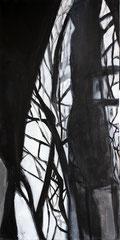 Lichteinfall 2, Acryl auf Leinwand, 80x40
