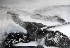 Neblig, Acryl auf Leinwand, 70x100