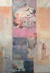 Glücksmoment (Die sieben Raben), 100x70 cm, Mischtechnik auf Leinwand