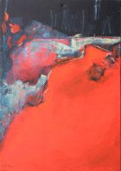 Unbewegter Augenblick 2, Aryl auf Leinwand, 100 x 70