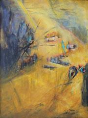 Landschaft, Acryl auf Leinwand, 80 x 60 cm