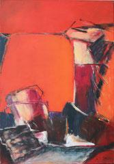 Unbewegter Augenblick 1, Aryl auf Leinwand, 100 x 70