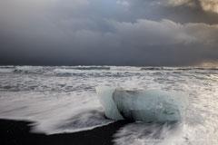 Island, Jökulsarlon, Küstenabschnitt