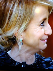 Luciana Litizetto wearing Yvone Christa Garden of Eden  GPE3736 earrings at the Sanremo Festival 2013