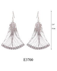 E3700: 85.00, OXI HANGING EARRING BELL SHAPED FILIGREE.