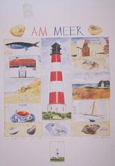 """Sabine Gerke, """"Am Meer"""", 50cmx70cm, 25,-€*"""