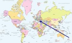 Auckland, Neuseeland - Sofia, Bulgarien